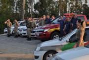 Bombeiros e Militares prestam homenagens em Içara a Gonçalves