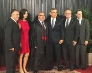 Colombo e Pinho Moreira prestigiam posse do catarinense Jorge Mussi