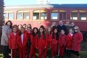 Passeio de trem marca 15 anos do Proerd em Içara