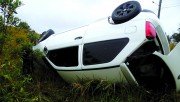 Motorista de veículo tomba no acesso Sul de Rincão