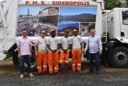 Novo caminhão coletor de lixo vai começar a trabalhar em Siderópolis