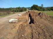 Começam os trabalhos de pavimentação da rua Pedro Comin