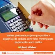 Projeto de lei proíbe compra com valor mínimo para pagamentos com cartão