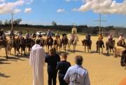 Cavaleiros participam da Cavalgada dos Amigos até ao Santuário