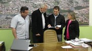 Magagnin recebe deputado Salvaro e apresenta andamento dos recursos aplicados