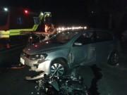 Colisão entre moto e carro deixa motociclista em estado grave