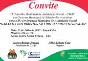IX Conferência de Assistência Social dia 25 em Siderópolis