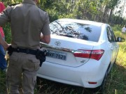 Corolla levado em assalto em Rio dos Anjos é encontrado