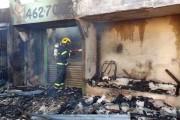 Criciúma recebe auxílio de Bombeiros de Içara em incêndio