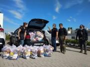 Coronavírus em SC: Campanha da Polícia Civil distribui três toneladas de alimentos