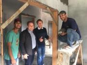 Deputado Comin visita obras do CRAS de São Ludgero