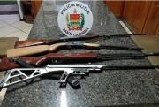 Crianças encontram armamento em casa abandonada