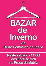 Rede Feminina realiza bazar de inverno na Praça São Donato