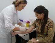 Dia da Saúde no 19º Batalhão da PM de Araranguá