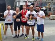 Delegado de Criciúma dá o recado com a família na São Silvestre
