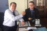 Acélio inicia parceria com novo secretário de Assuntos Legislativos