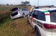 Veículo furtado é recuperado pela PM após perseguição