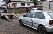 Agentes de Trânsito localizam veículo com registro de furto