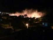 Incêndio atinge vegetação rasteira no Nossa Senhora de Fátima