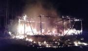 Casa de madeira na Içara é tomada pelo fogo no domingo