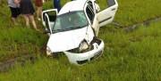 Veículo cai em canteiro da Vila Nova na BR-101