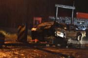 Redutor de velocidade é atingido por veículo na SC-445