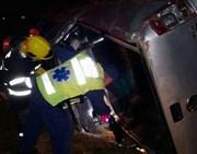 Capotagem deixa motorista em estado grave