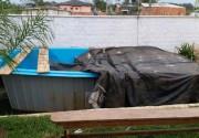 Piscina furtada em Içara é recuperada em pré-instalação