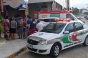 Acidente com motociclista ferido interrompe tráfego na Rua Vitória