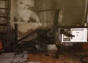 Incêndio atinge moto que estava em garagem em Vila Nova