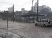 Temporal alaga ruas e causa estragos em Içara