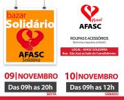 Afasc Solidária inicia última edição do Bazar Solidário de 2018 nesta sexta-feira