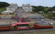 Papai Noel Ferroviário alegra crianças de Içara