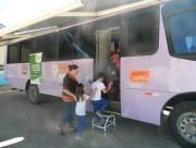 Ônibus lilás percorre municípios da AMREC