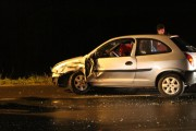 Colisão frontal prejudica o trânsito na Rodovia SC-445