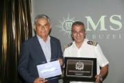 Moreira recebe transatlântico em Florianópolis