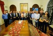 Moisés recebe prefeitos e deputados do Extremo-Sul de SC