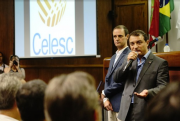 Governador Moisés visita Celesc e reforça compromisso