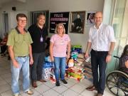 Faculdade Avantis entrega duas toneladas de donativos arrecadados