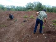 Área usada como depósito de seixo rolado é recuperada em Maracajá