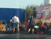 Motociclista fica ferida em acidente na SC-445