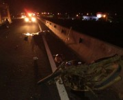 Motociclista tem a perna amputada e morre em acidente na BR-101