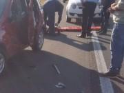 Motorista morre atropelado ao sair do carro em São João do Sul