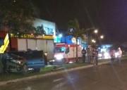 Motorista perde o controle e sai da pista em Araranguá