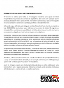 Nota Oficial: Governo de SC apoia e participa das investigações dos respiradores
