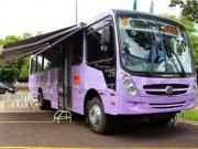 Ônibus lilás passa por municípios do interior para orientar mulheres sobre violência