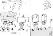 Chuva causa falta de água