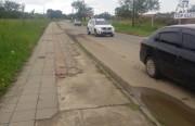 Calçada da Procópio Lima está sem manutenção faz tempo