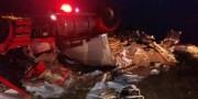 Condutor e passageiro são resgatados de acidente na BR-101