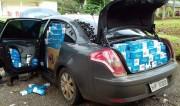 Carro de Içara é adaptado para contrabando de cigarros